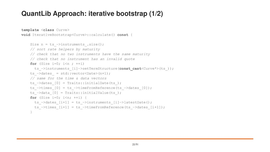QuantLib Approach: iterative bootstrap (1/2) te...