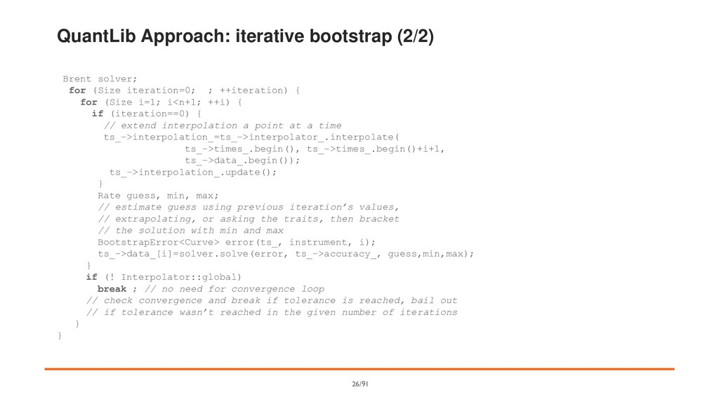 QuantLib Approach: iterative bootstrap (2/2) Br...