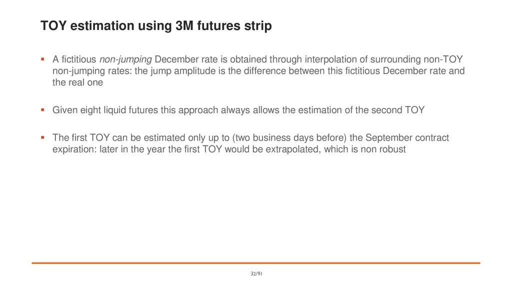 TOY estimation using 3M futures strip ▪ A ficti...