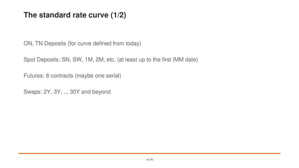 The standard rate curve (1/2) ON, TN Deposits (...
