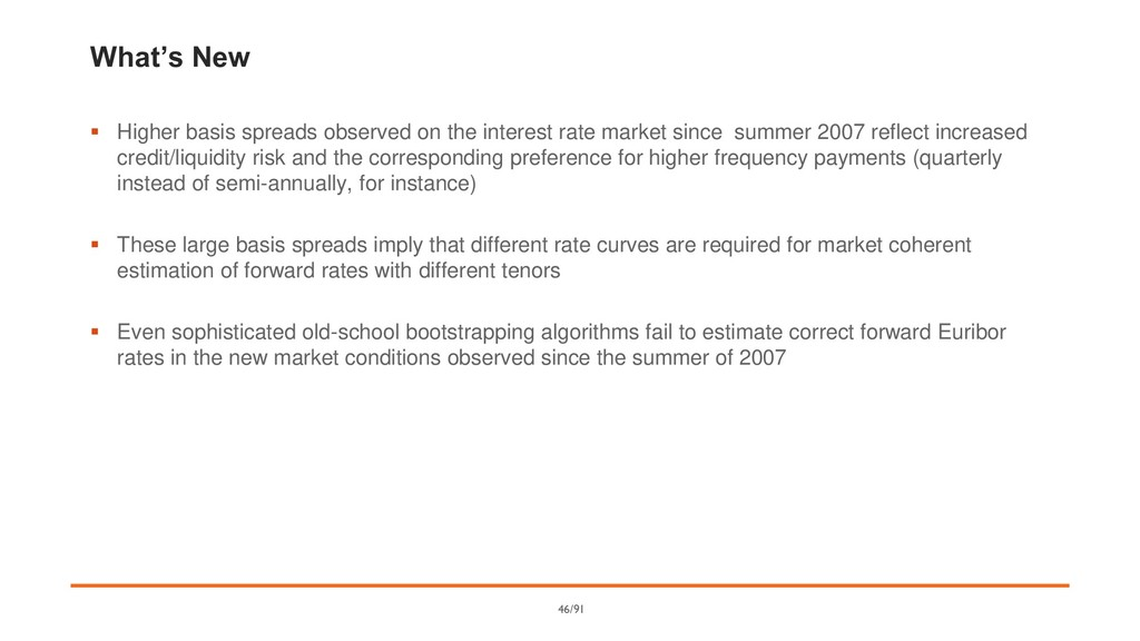 What's New ▪ Higher basis spreads observed on t...
