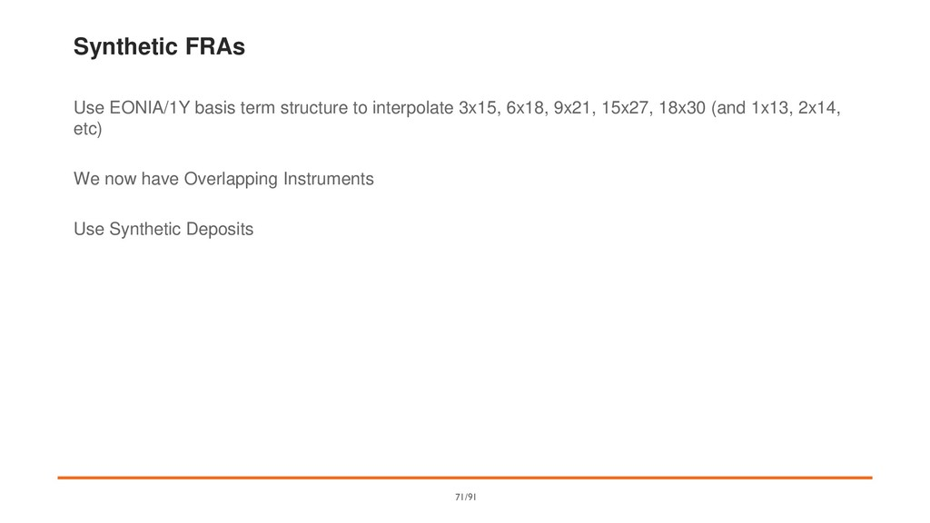 Synthetic FRAs Use EONIA/1Y basis term structur...