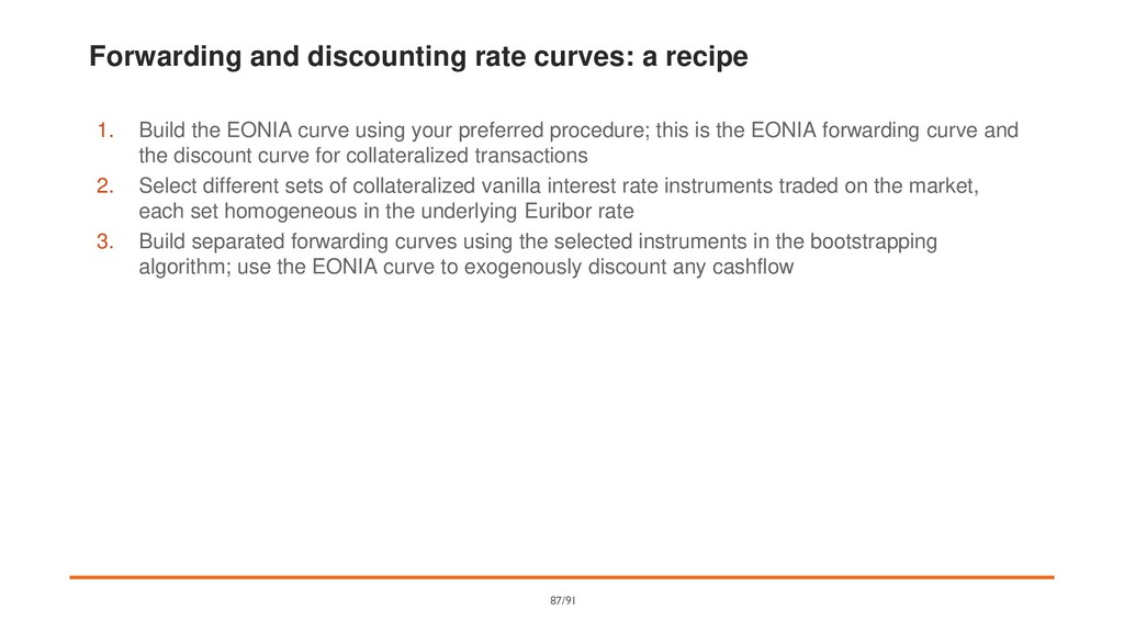 Forwarding and discounting rate curves: a recip...