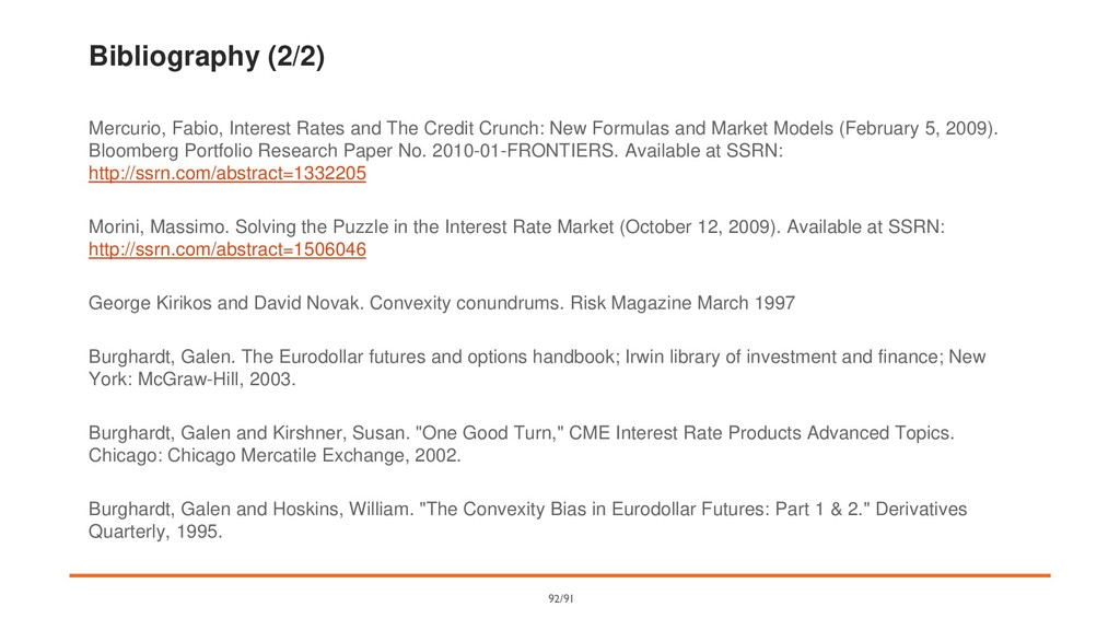 Bibliography (2/2) Mercurio, Fabio, Interest Ra...