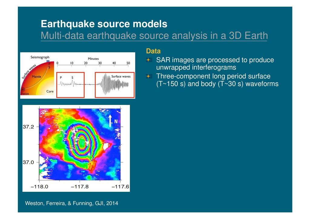 Earthquake source models Multi-data earthquake ...