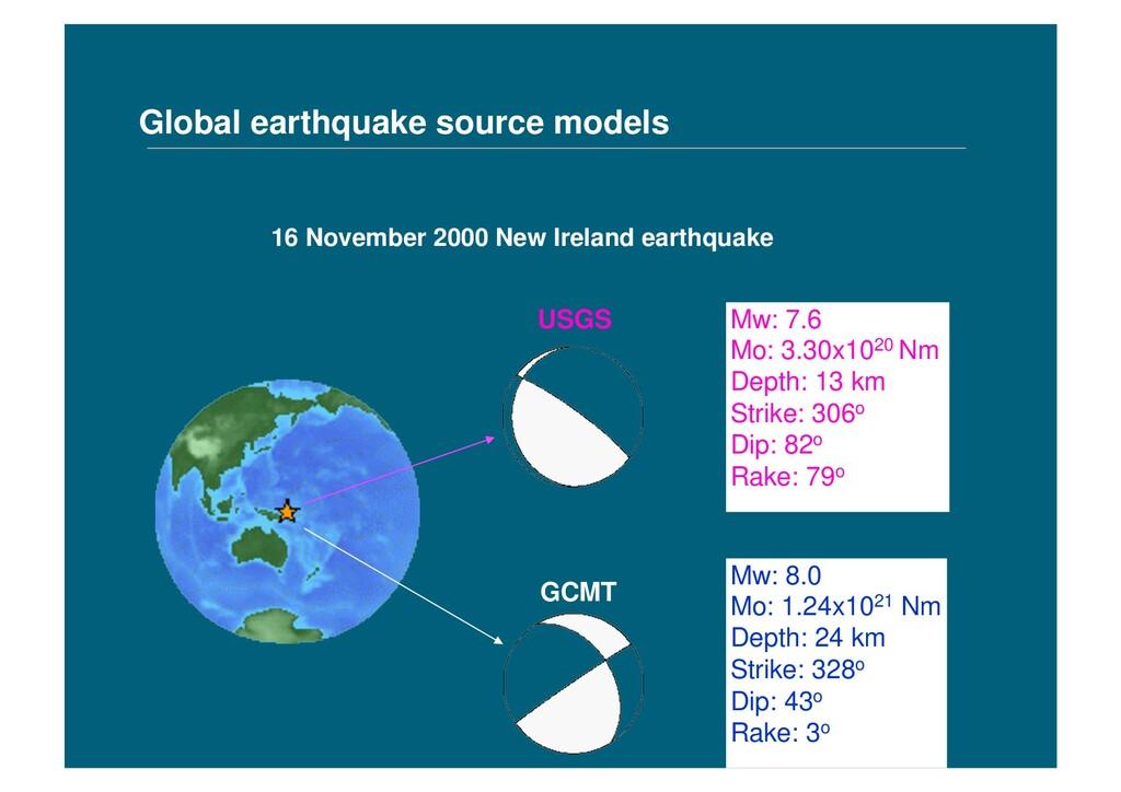 Global earthquake source models 16 November 200...