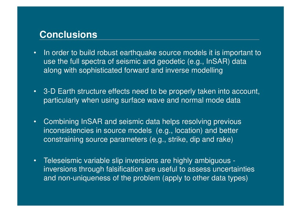 Conclusions • In order to build robust earthqu...