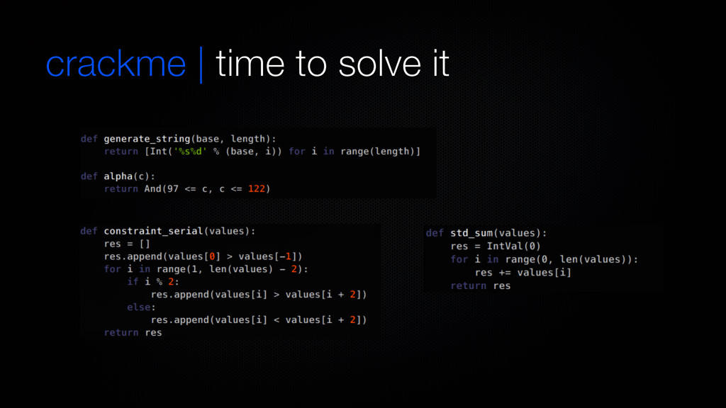 crackme | time to solve it