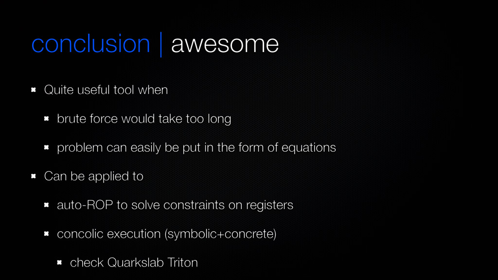 conclusion | awesome Quite useful tool when bru...