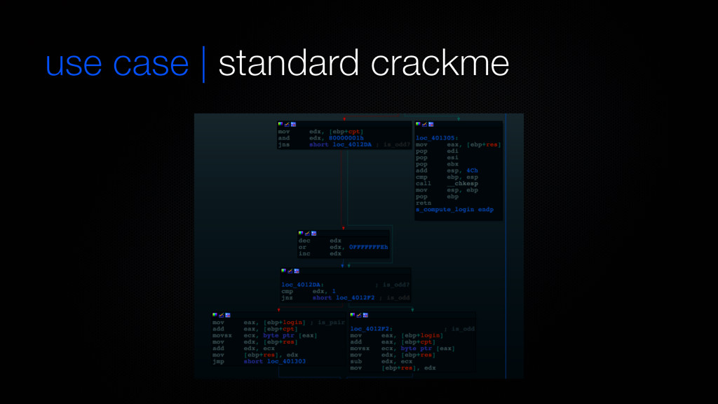 use case   standard crackme