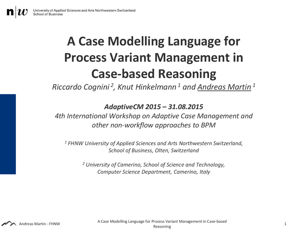 Andreas Martin - FHNW A Case Modelling Language...