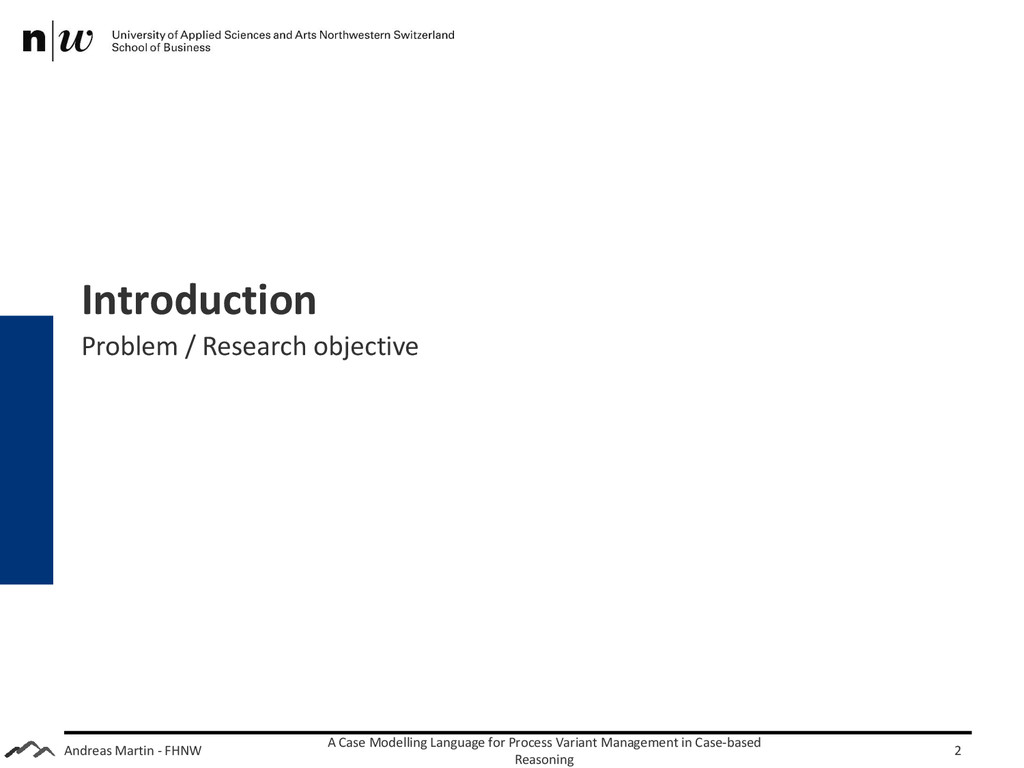 Andreas Martin - FHNW Introduction Problem / Re...
