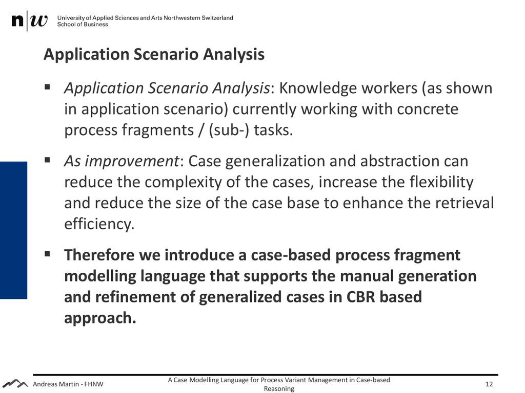 Andreas Martin - FHNW Application Scenario Anal...