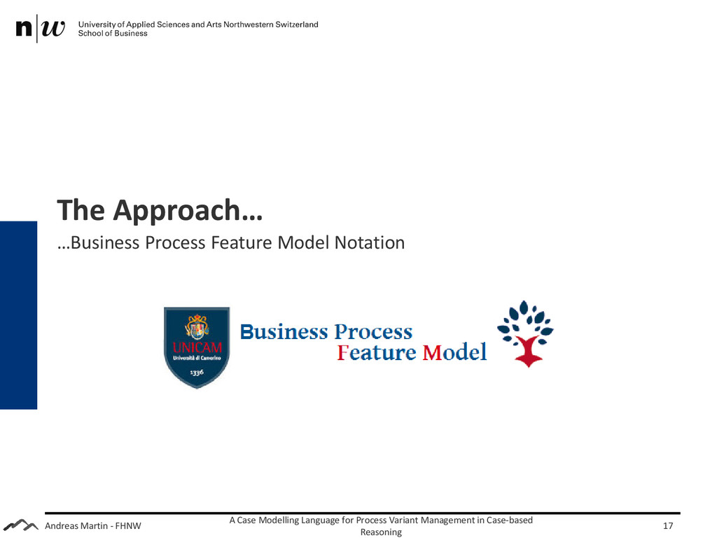 Andreas Martin - FHNW The Approach… …Business P...