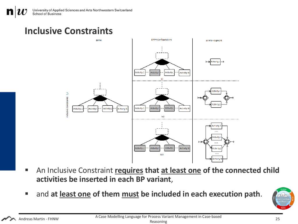 Andreas Martin - FHNW Inclusive Constraints A C...