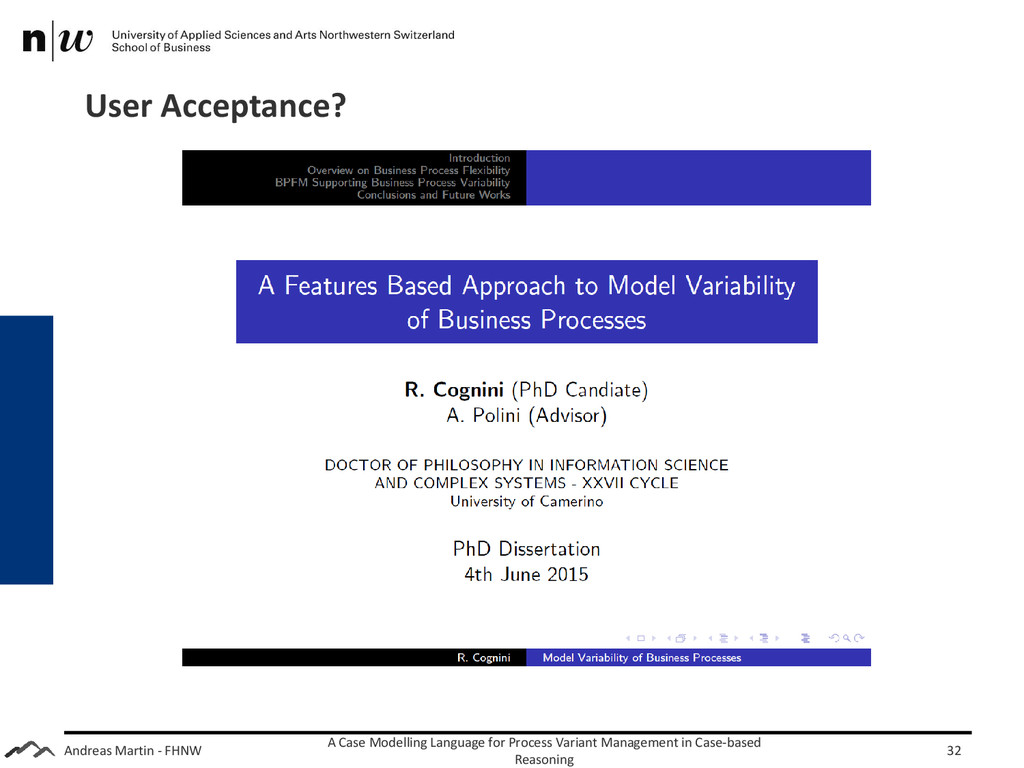 Andreas Martin - FHNW User Acceptance? A Case M...