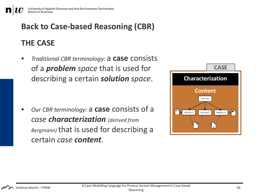 Andreas Martin - FHNW Back to Case-based Reason...