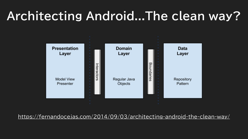 Architecting Android...The clean way? https://f...