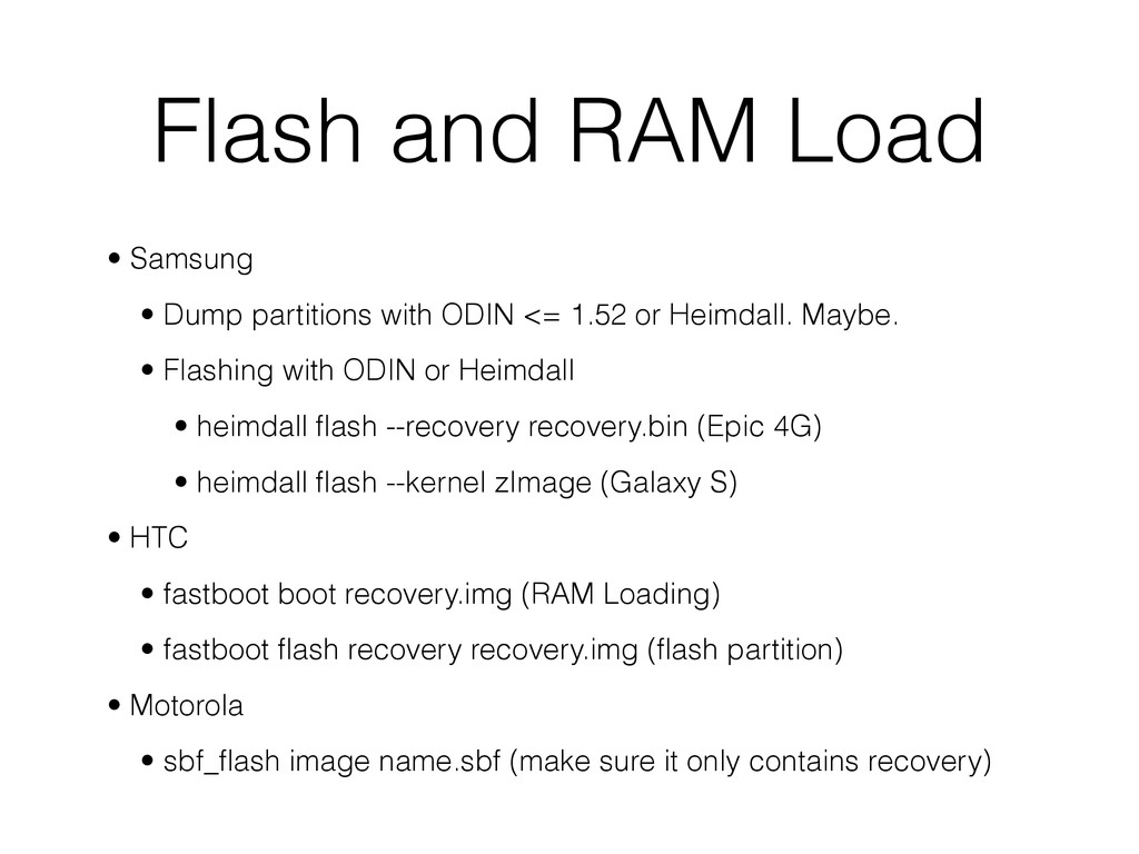 Flash and RAM Load • Samsung