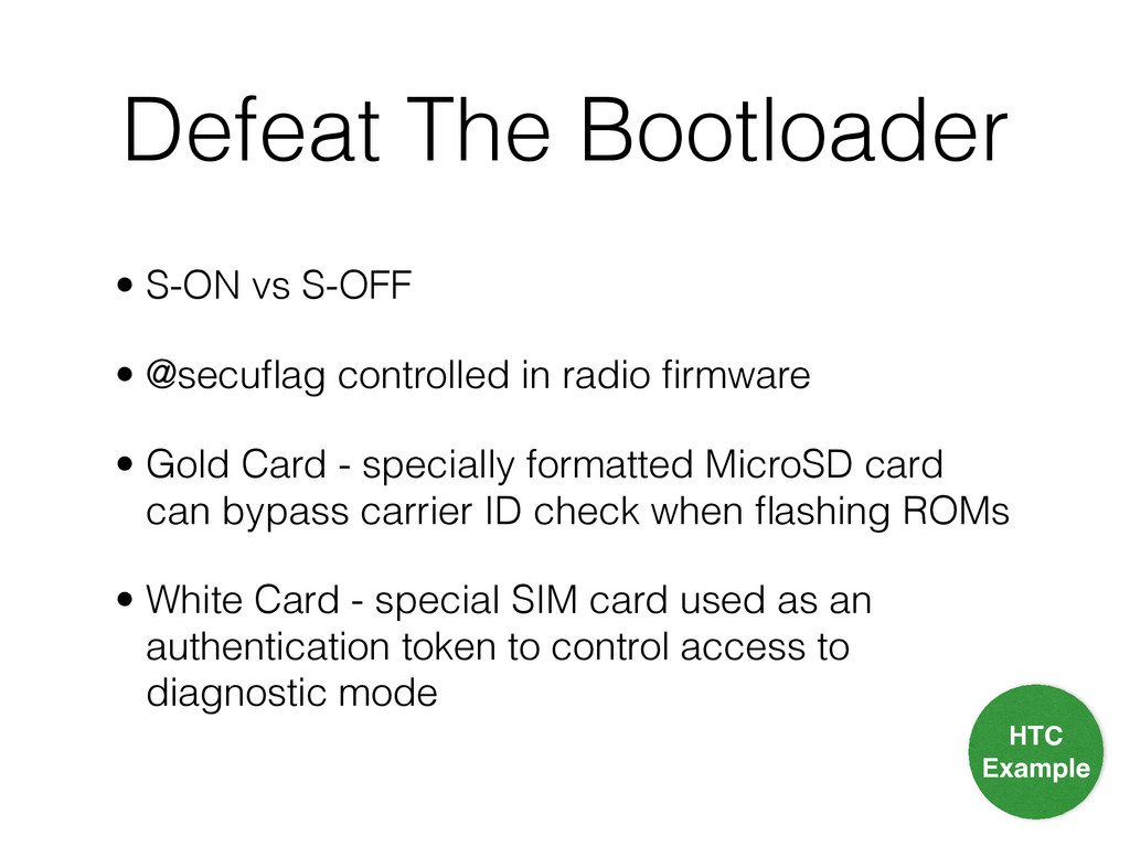 Defeat The Bootloader • S-ON vs S-OFF
