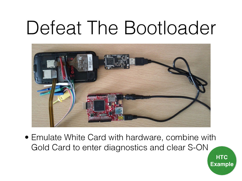 Defeat The Bootloader • Emulate White Card with...
