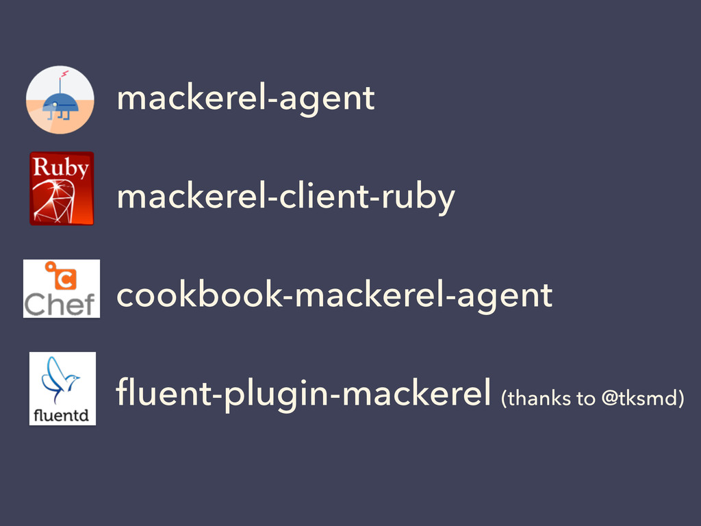 mackerel-agent mackerel-client-ruby cookbook-ma...