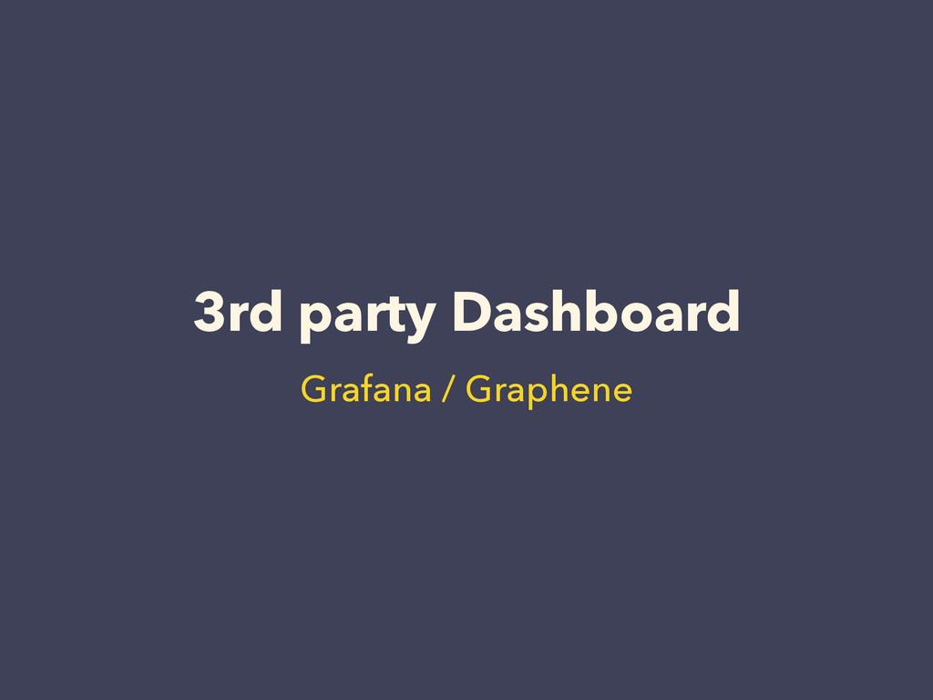 3rd party Dashboard Grafana / Graphene