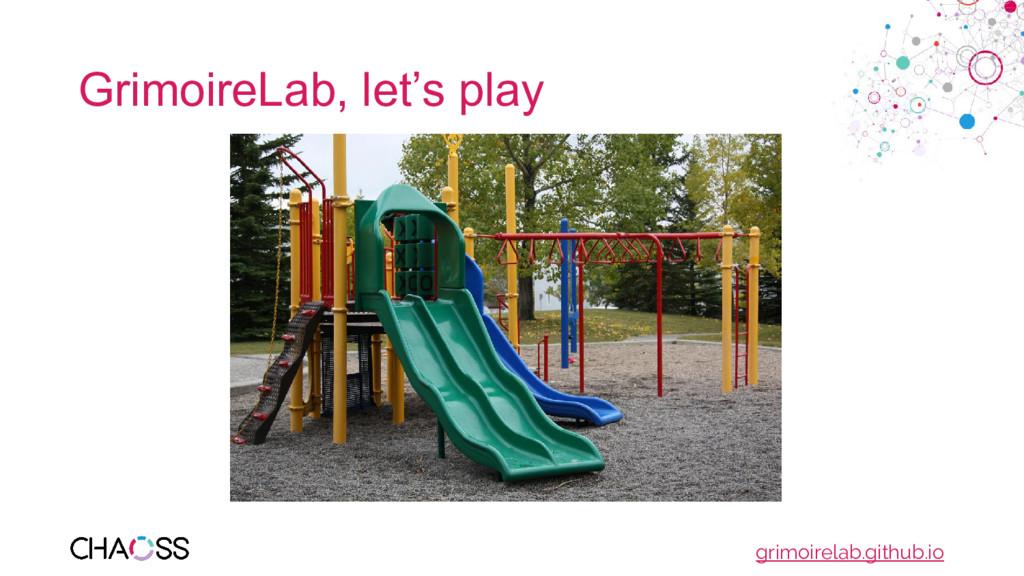 GrimoireLab, let's play grimoirelab.github.io
