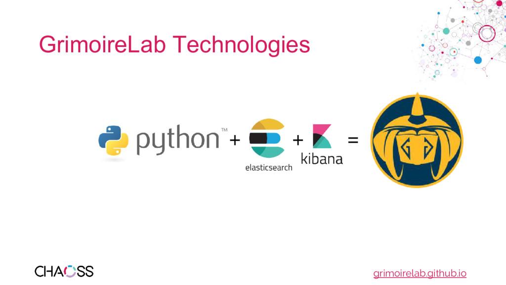 GrimoireLab Technologies + + = grimoirelab.gith...