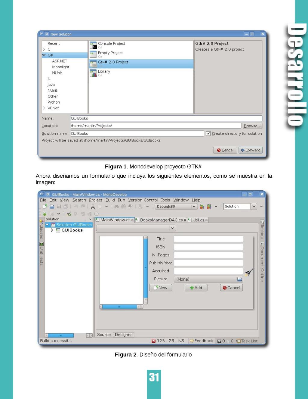 Figura 1. Monodevelop proyecto GTK# Ahora diseñ...