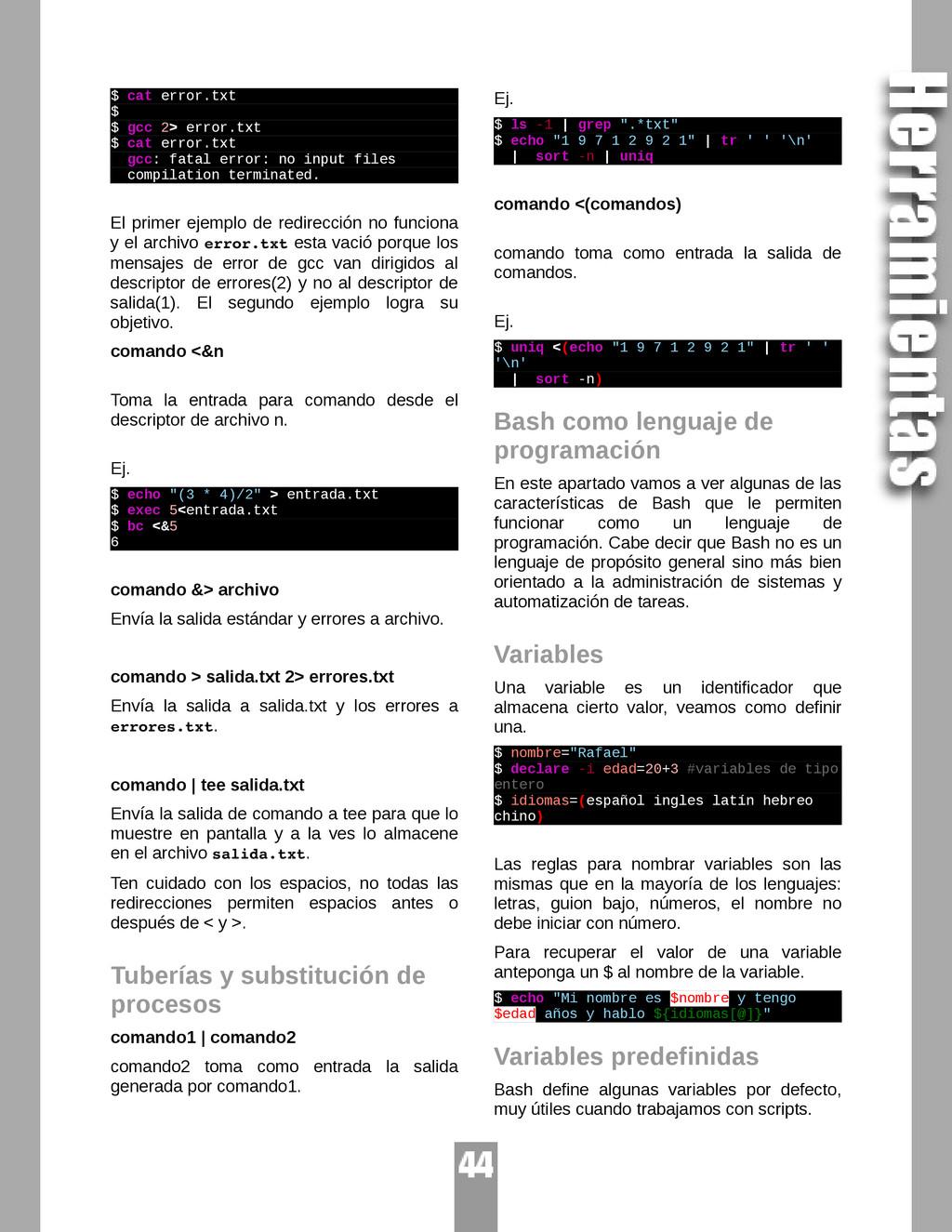 $ cat error.txt $ $ gcc 2> error.txt $ cat erro...