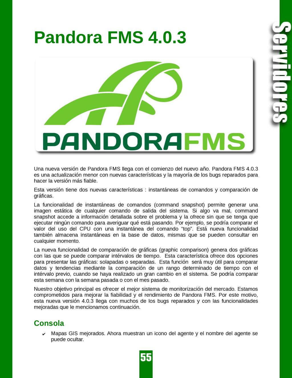 Pandora FMS 4.0.3 Una nueva versión de Pandora ...