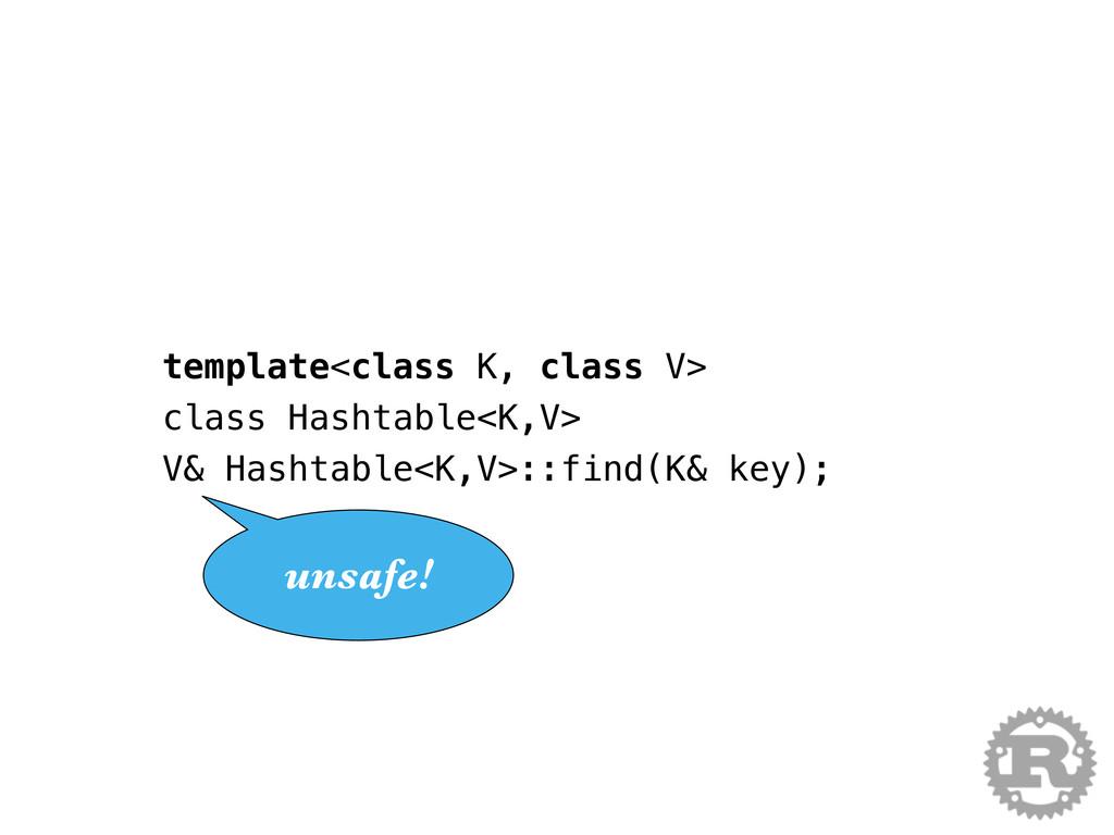template<class K, class V> class Hashtable<K,V>...