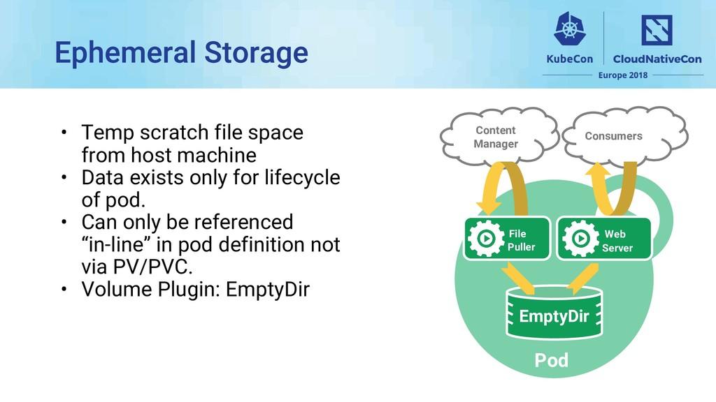 • Temp scratch file space from host machine • D...