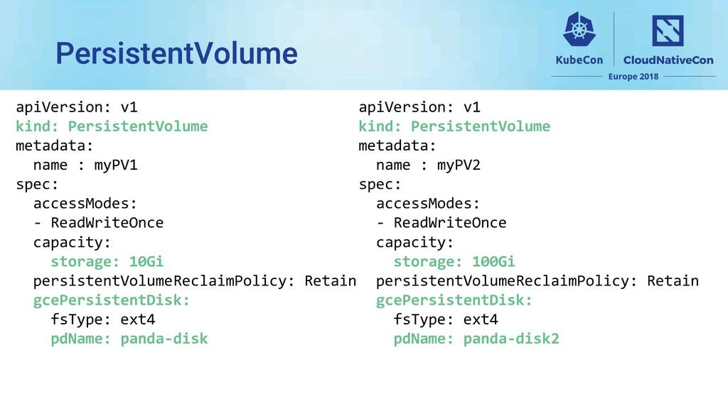 apiVersion: v1 kind: PersistentVolume metadata:...