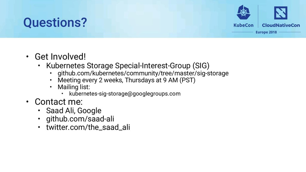 • Get Involved! • Kubernetes Storage Special-In...
