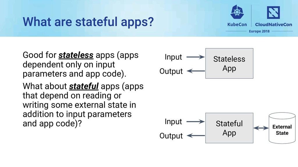 Good for stateless apps (apps dependent only on...