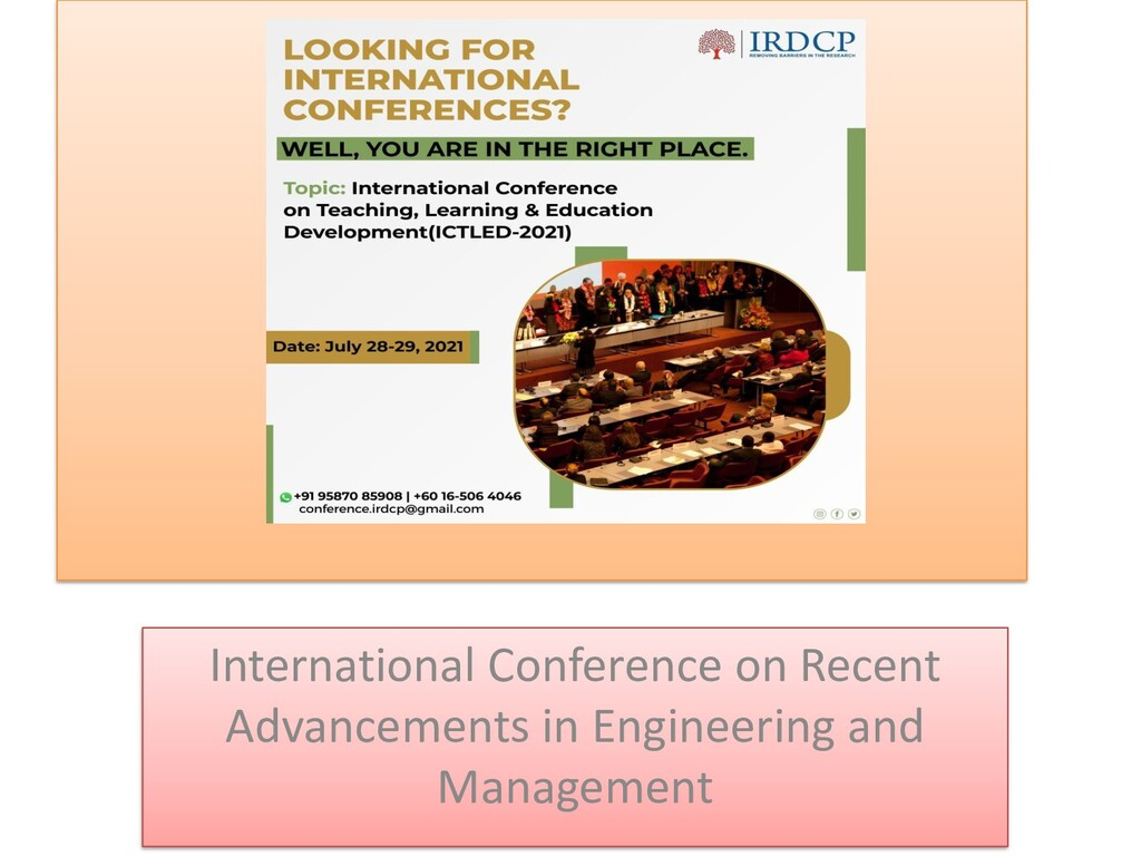 International Conference on Recent Advancements...