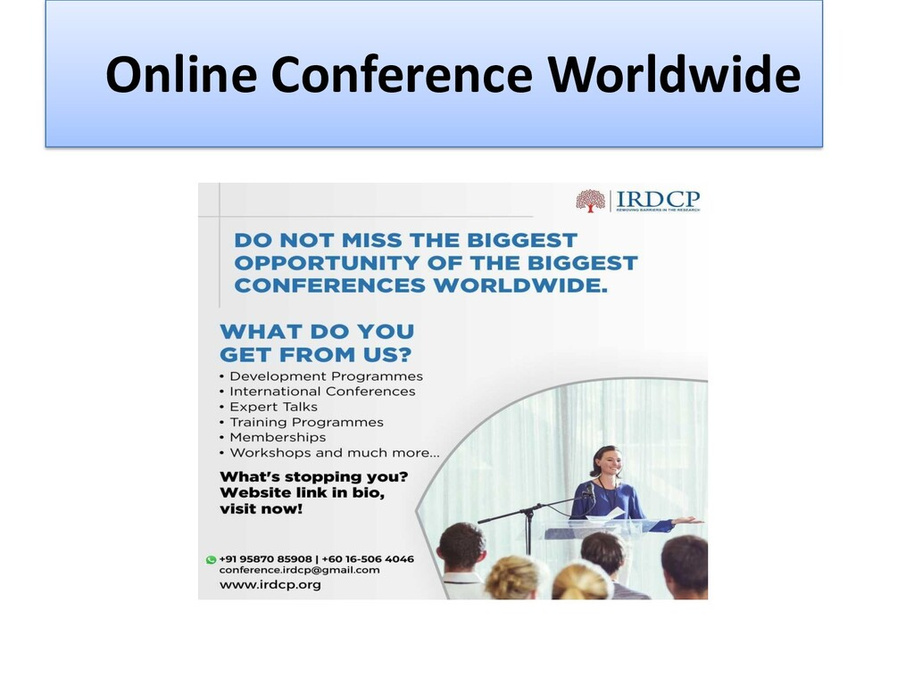 Online Conference Worldwide Organic