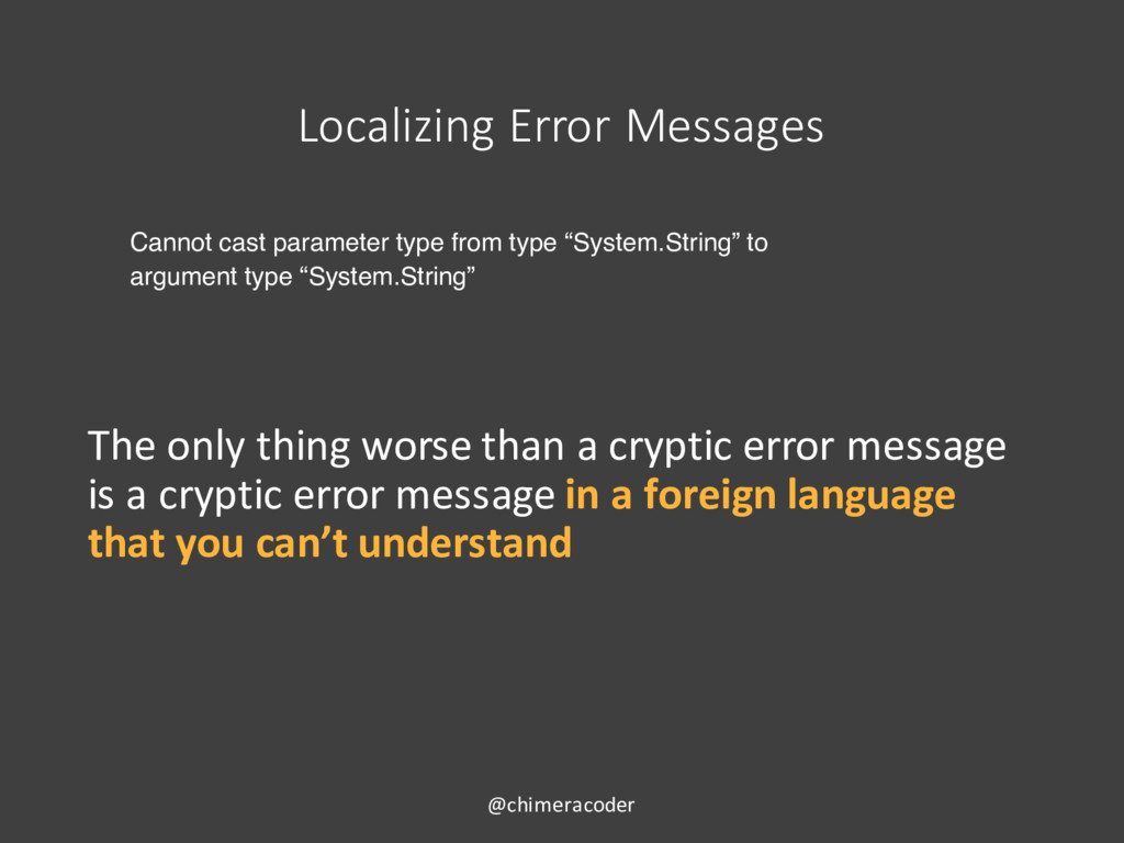 Localizing Error Messages Cannot cast parameter...