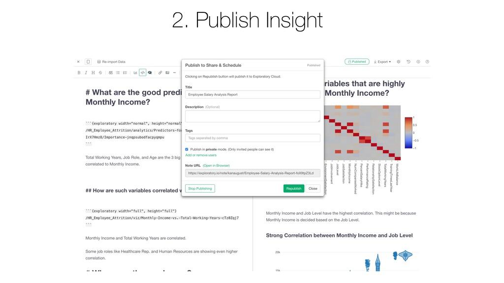 2. Publish Insight