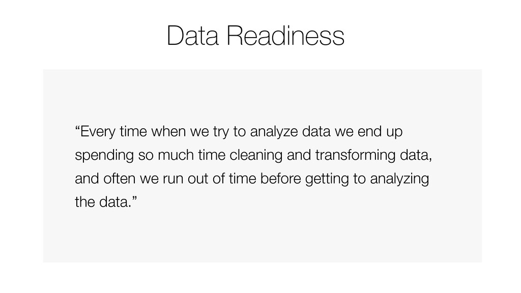 """""""Every time when we try to analyze data we end ..."""