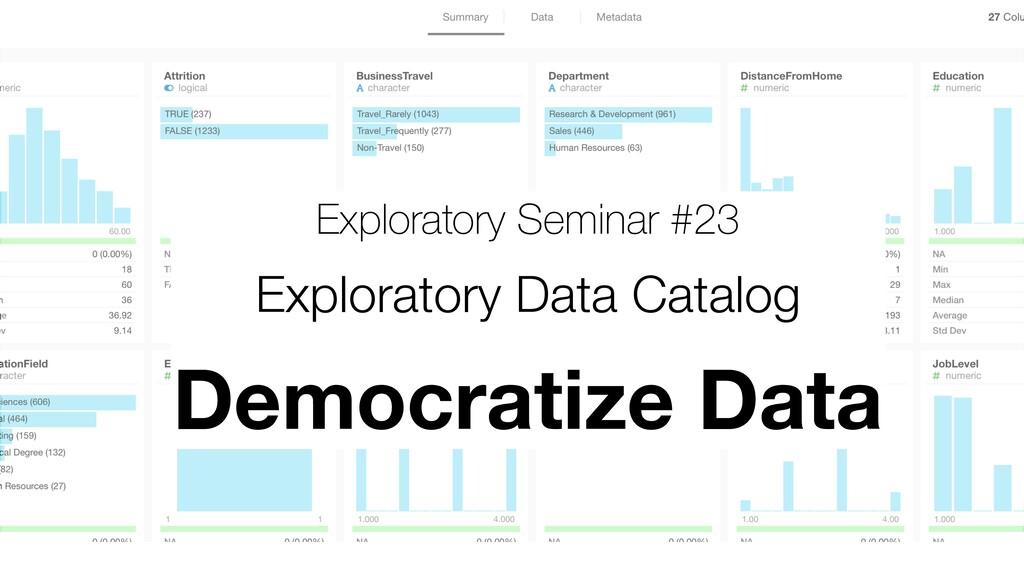 Exploratory Seminar #23 Exploratory Data Catalo...