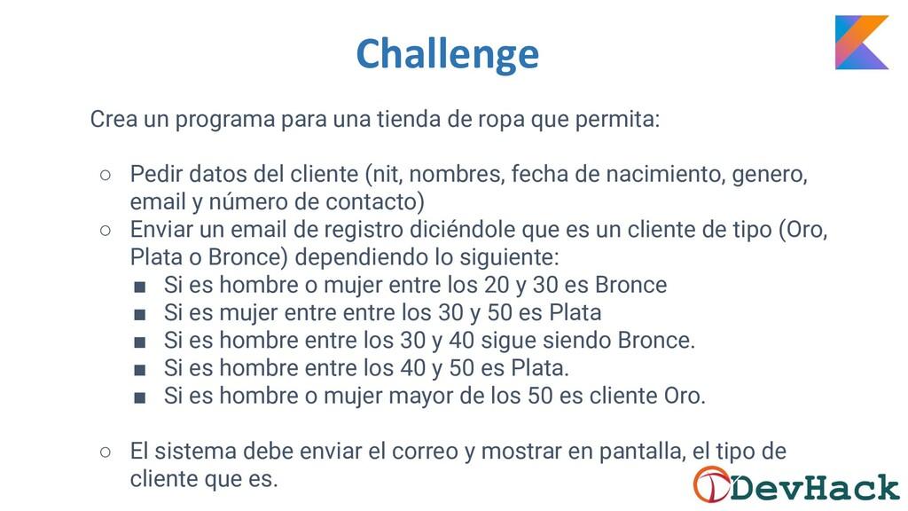 Challenge Crea un programa para una tienda de r...