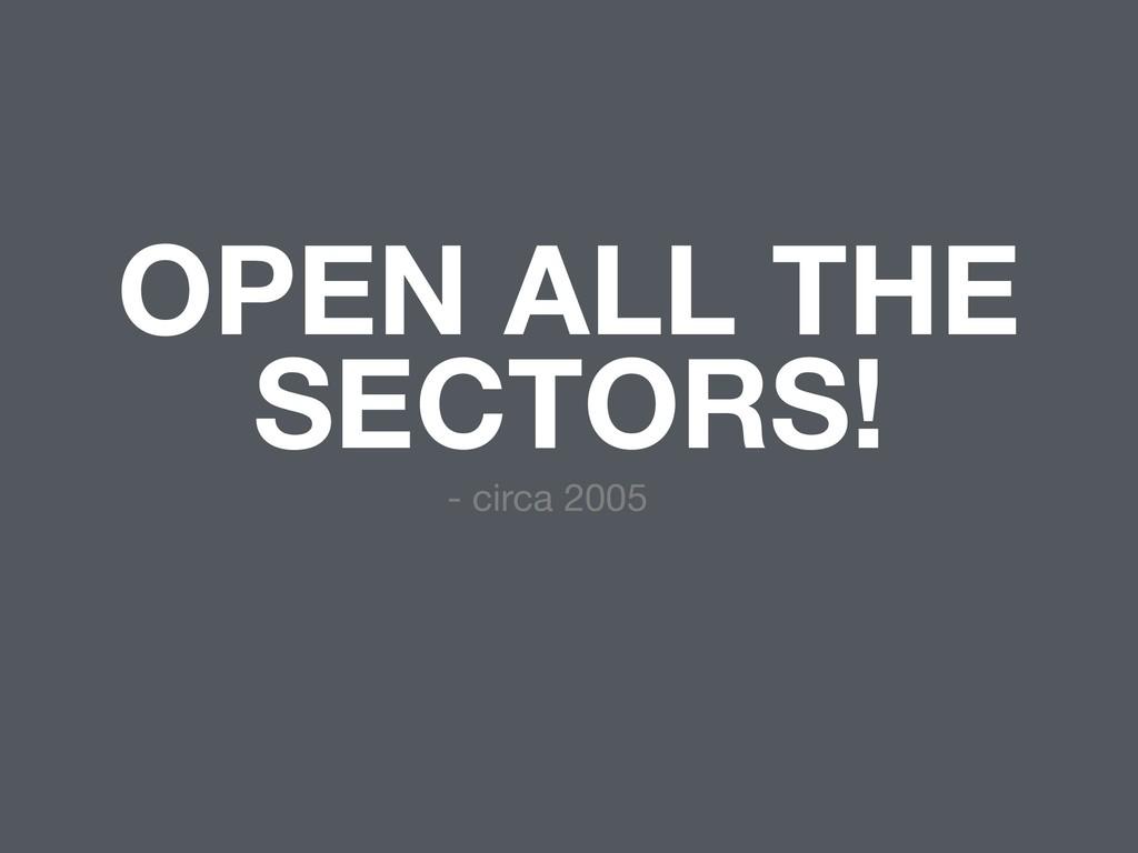 OPEN ALL THE SECTORS! - circa 2005
