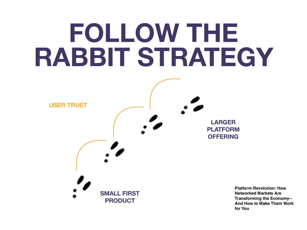 FOLLOW THE RABBIT STRATEGY SMALL FIRST PRODUCT ...