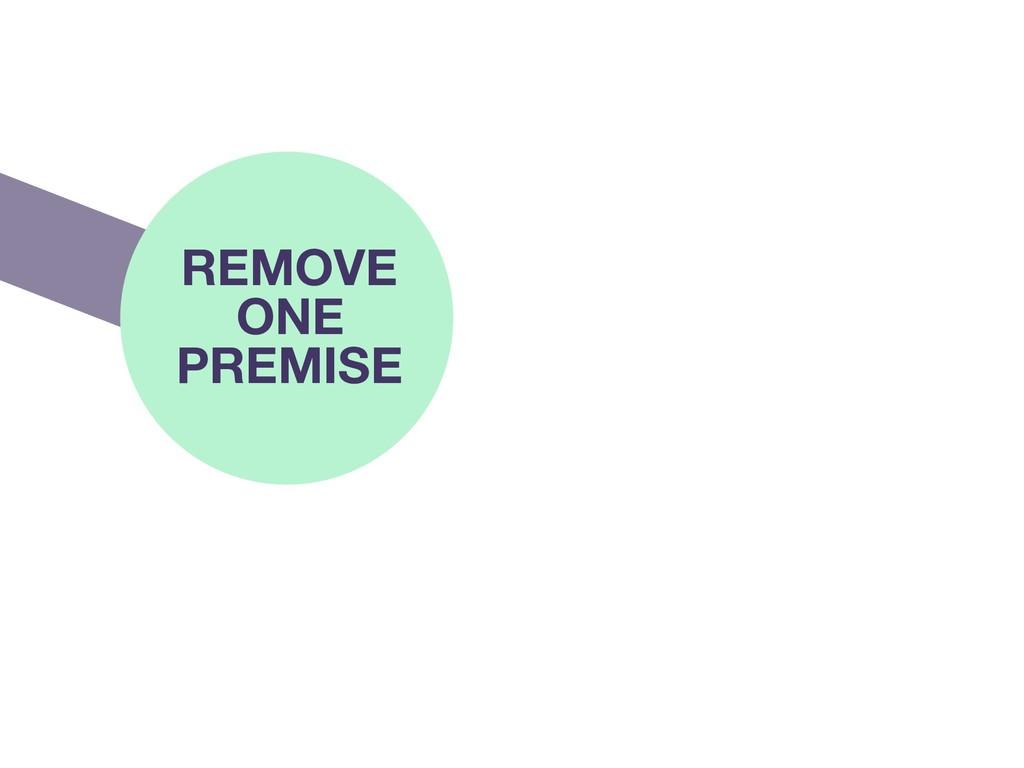 REMOVE ONE PREMISE