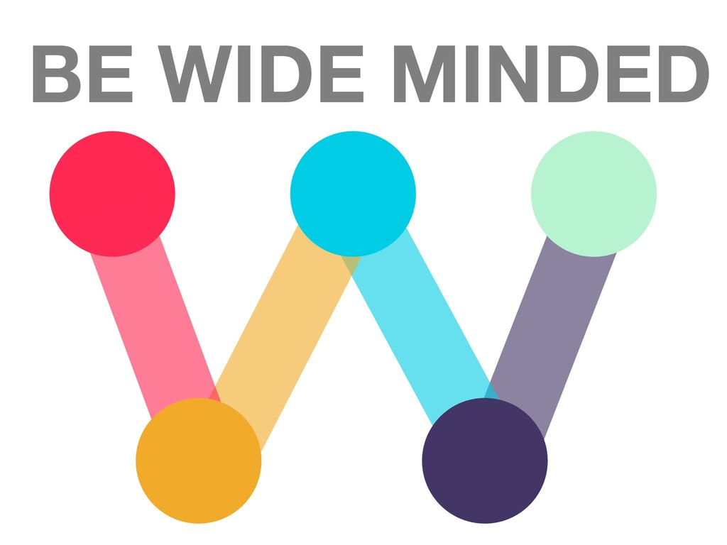 BE WIDE MINDED