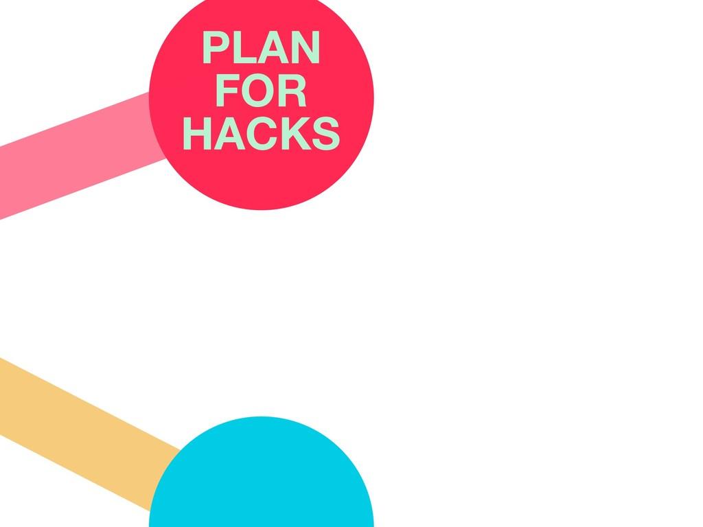 PLAN FOR HACKS
