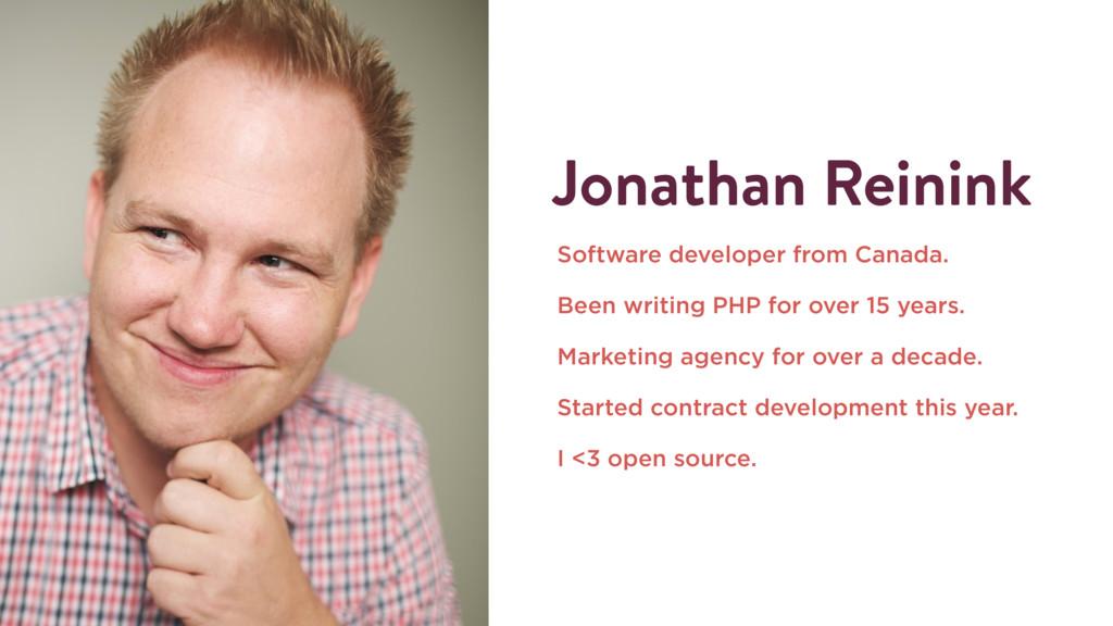 Jonathan Reinink Software developer from Canada...